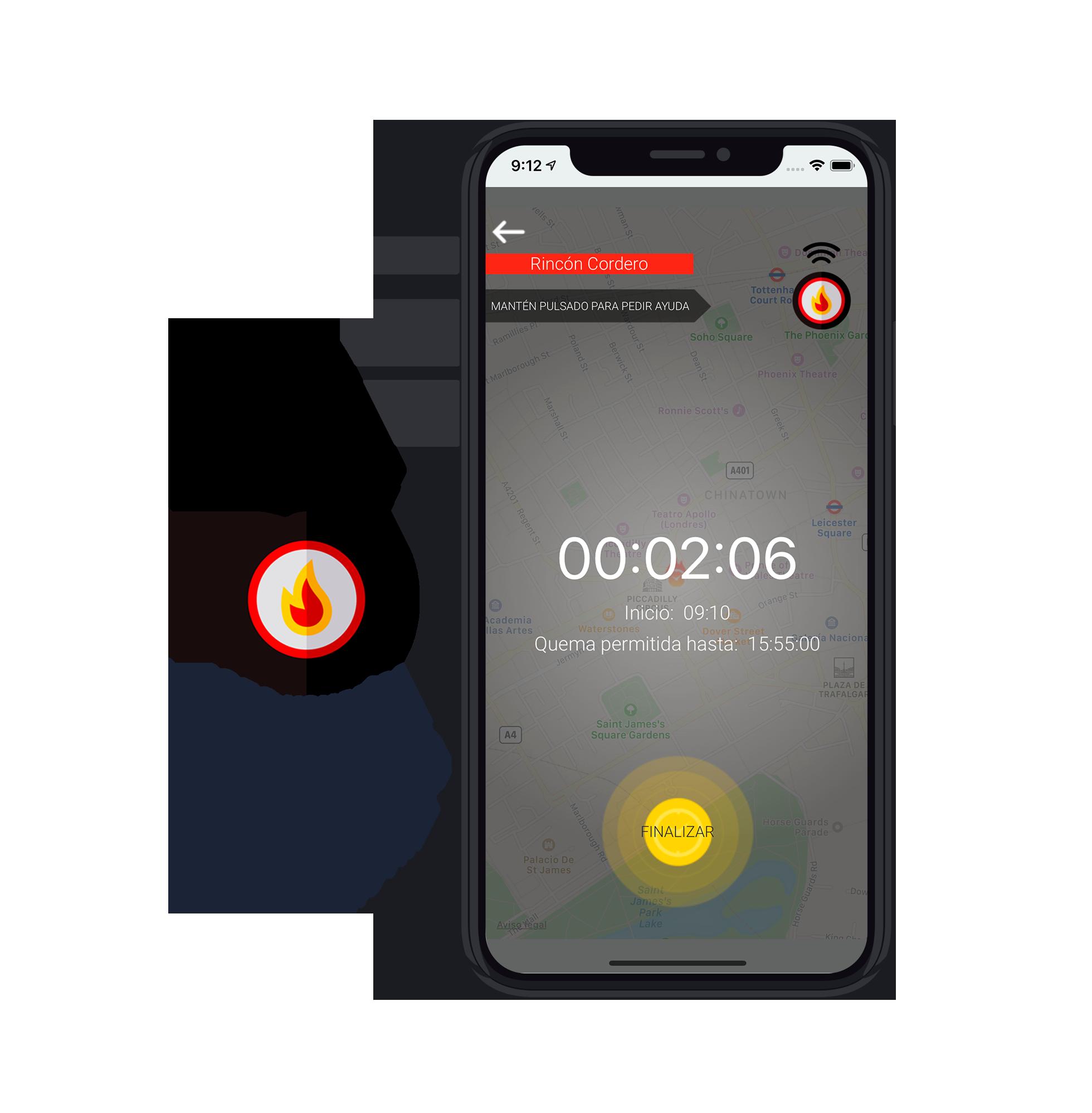 estadísticas prevención de incendios controlfoc uso de la app